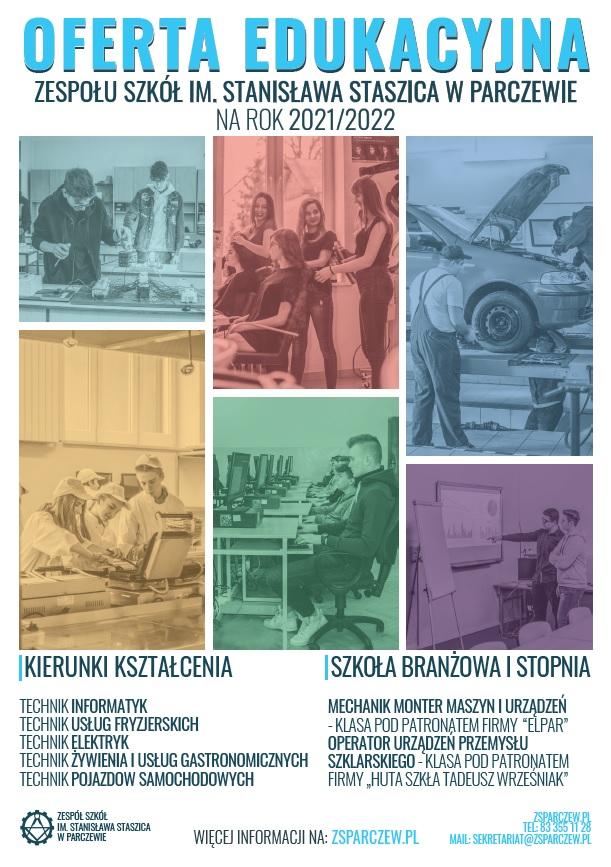 Plakat ZS Parczew